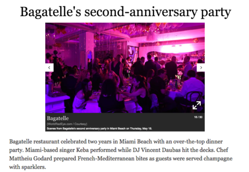 SoutFlorida.com | Bagatelle's Second-Anniversary Party