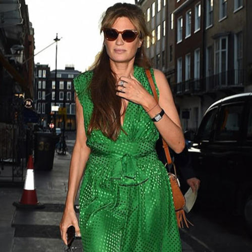 Jemima Goldsmith puts on a glamorous display as she dines in London